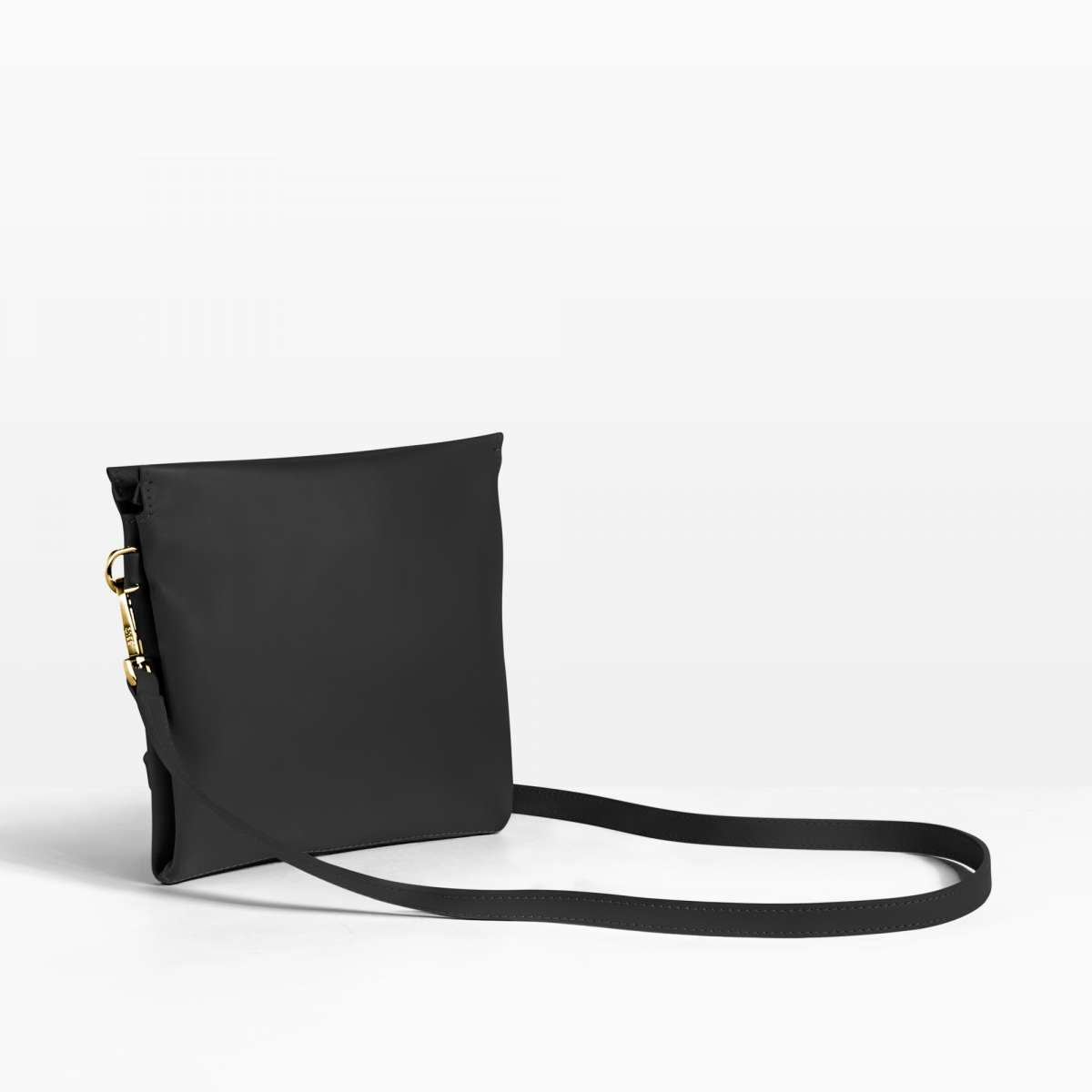 Pure 2, black, crossbody flat